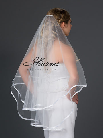 Illusion Bridal Fingertip Length Veil D5-362-3R