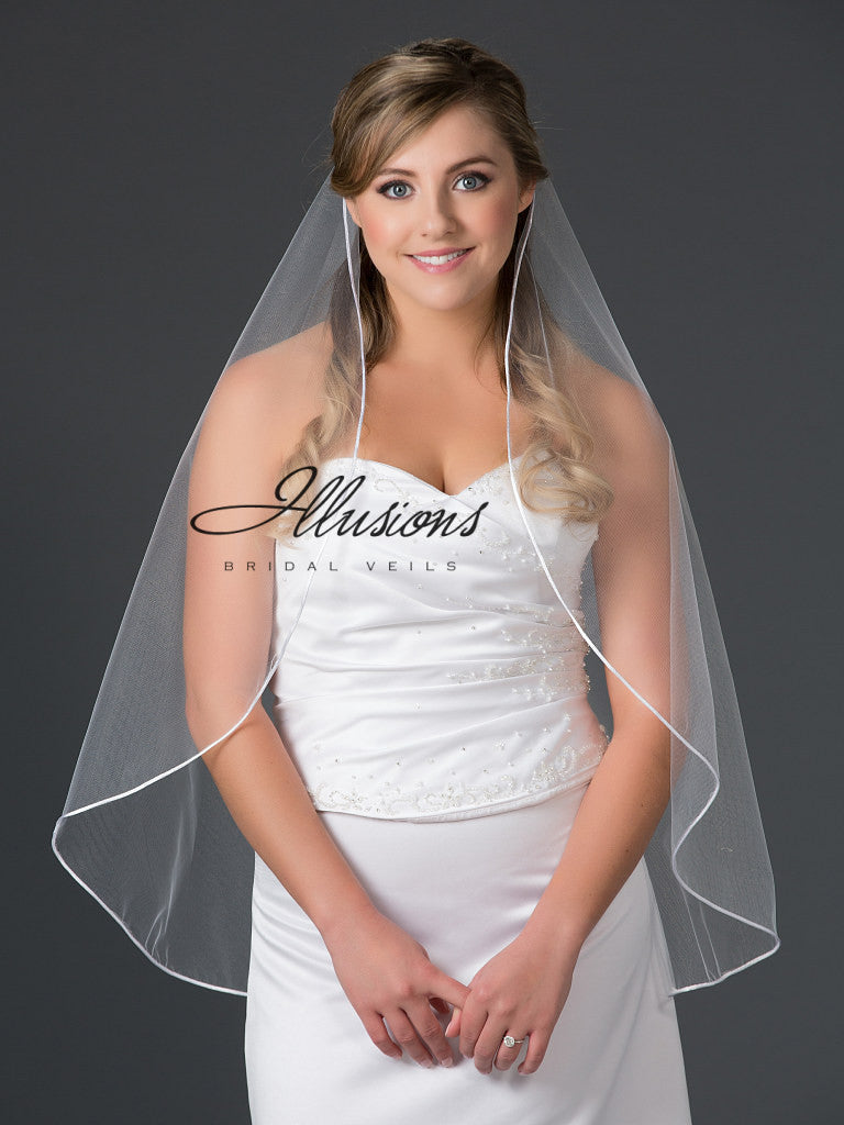 Illusion Bridal Waist Length Veil D7-301-RT