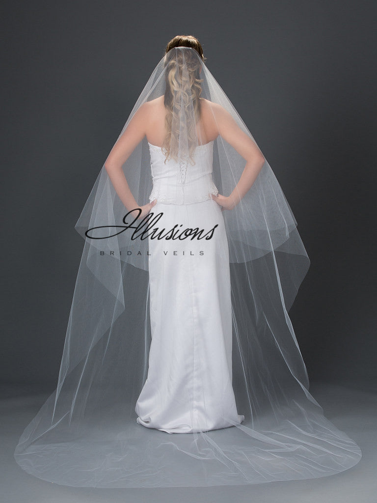 Illusion Bridal Chapel Length Veil L7-902-CT