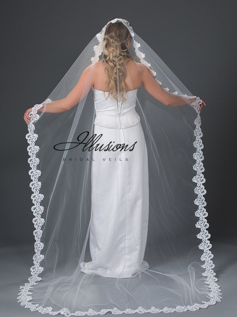 Illusion Bridal Chapel Length Veil M7-901-7L