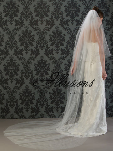 Illusion Bridal Chapel Length Veil S1-1082-CT