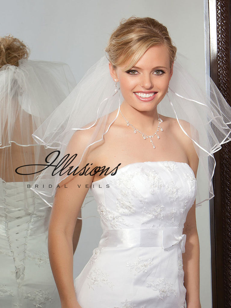 Illusion Bridal Shoulder Length S1-202-1R