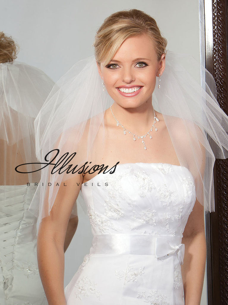 Illusion Bridal Shoulder Length S1-202-CT