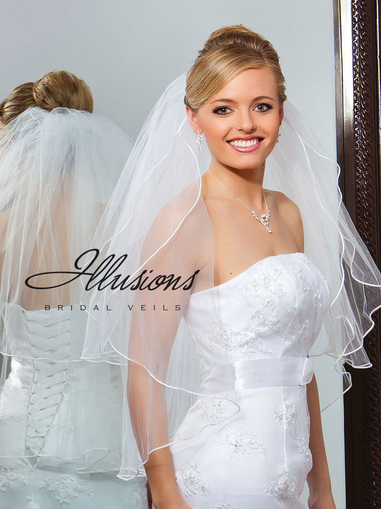 Illusion Bridal Waist Length Veil S1-302-ST