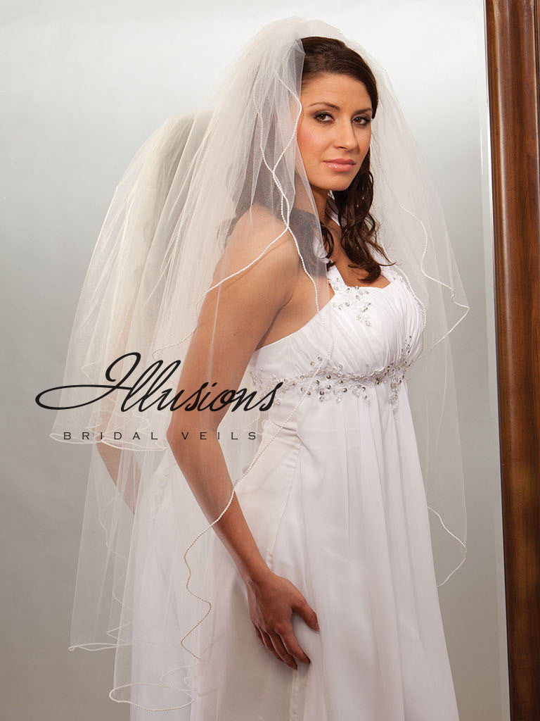 Illusion Bridal Knee Length Veil S1-452-P