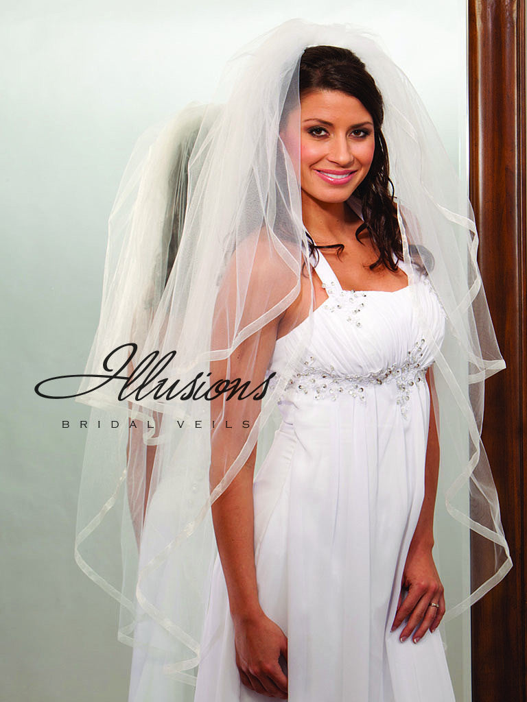 Illusion Bridal Knee Length Veil S1-452-SR