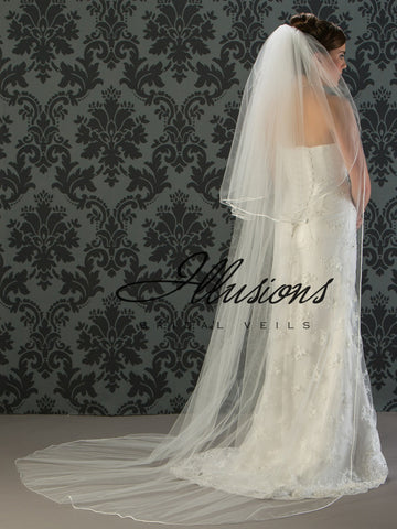 Illusion Bridal Chapel Length Veil S1-902-RT