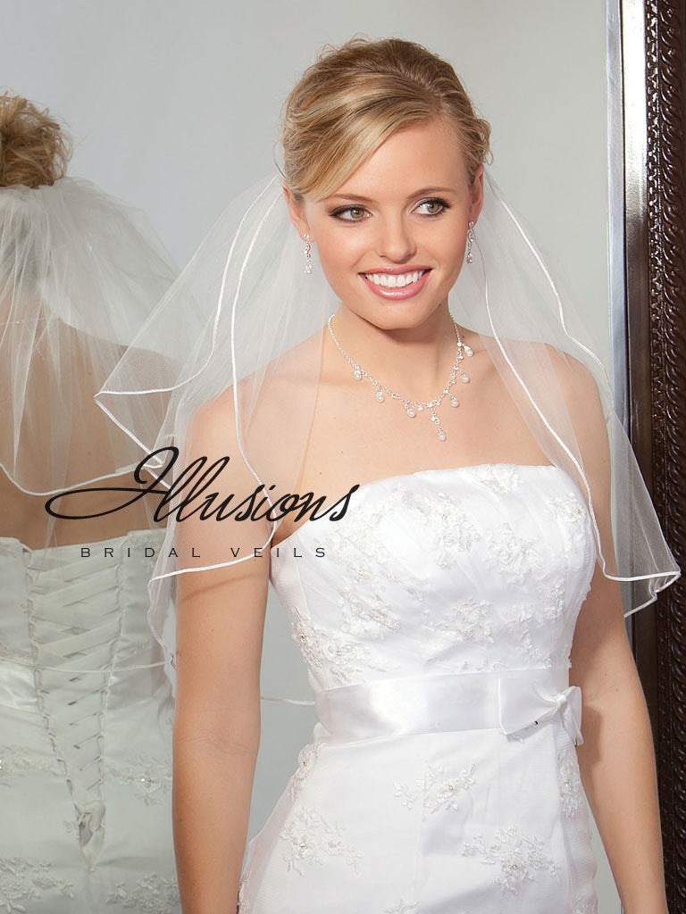 Illusion Bridal Shoulder Length S5-202-ST