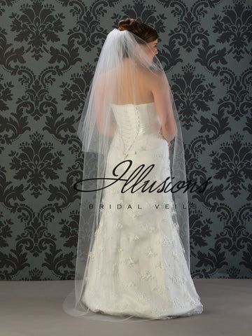 Illusion Bridal Floor Length Veil S5-722-CT