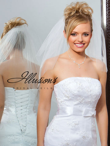 Illusion Bridal Elbow Length S7-252-CT