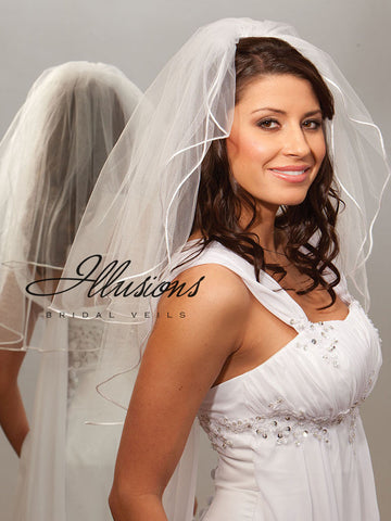 Illusion Bridal Elbow Length S7-252-RT