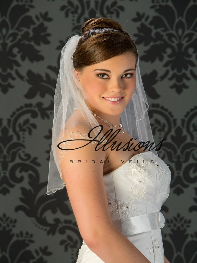 Illusion Bridal Shoulder Length V-7030