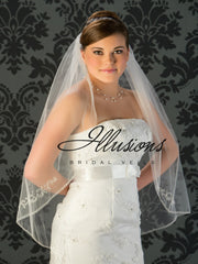 Illusion Bridal Fingertip Length Veil V-772