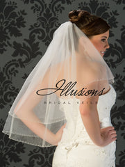 Illusion Bridal Waist Length Veil V-773