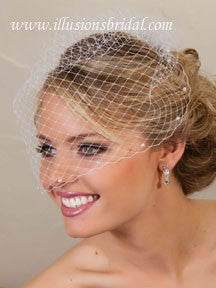 Illusion Bridal Visor Length Veil VS-780