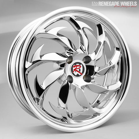 "Spearfish Chrome 18 x 7"" Trike Wheel"