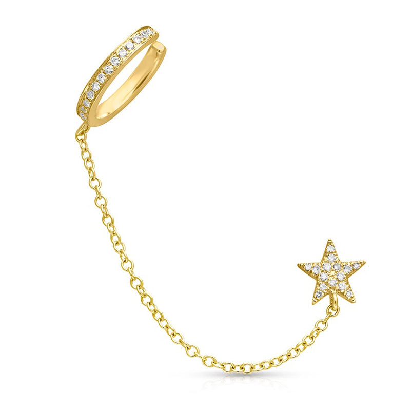 star stud and cuff combo gold
