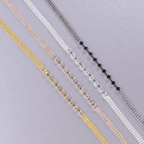 silver, gold, rose gold bra straps and black