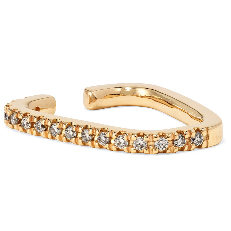 gold with crystals cuff