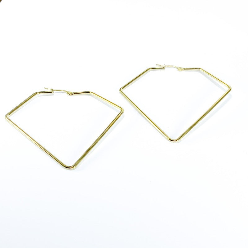 gold geometric hoops