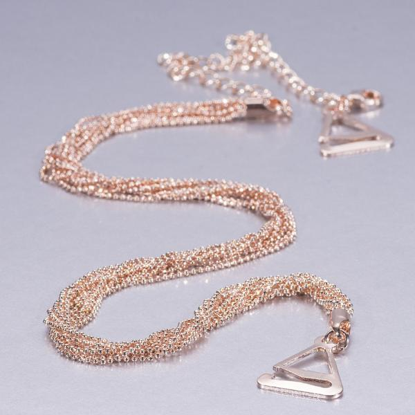 luxury bra straps in rose gold 24K rose gold plated