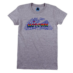 Motown Map Women's T-Shirt - Grey