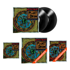 "THE ULTIMATE PLANET DRUM 25TH ANNIVERSARY COLLECTION: 2LP + Autographed 12"" x 12"" Full Color Lithograph + Signed Planet Drum Book + Digital Download + Bonus Sticker"