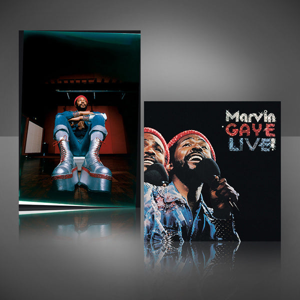 "Marvin Gaye ""Live!"": CD + ""Big Boots"" Lithograph"
