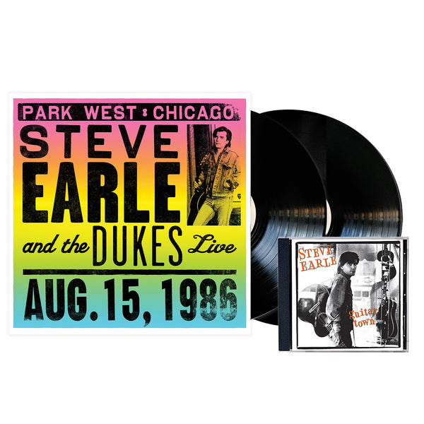 Steve Earle Guitar Town + Live in Chicago - CD+Vinyl Bundle