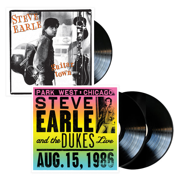 Steve Earle Guitar Town + Live in Chicago - Vinyl Bundle