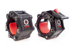 Lock-Jaw PRO 2 Collars with MAGNETS.  Color Black with Red.
