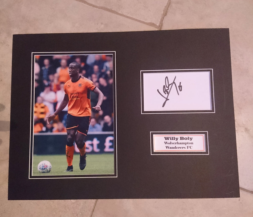 34bf587be6b WILLY BOLY -WOLVERHAMPTON WANDERERS FC - SIGNED PHOTO MOUNT ...