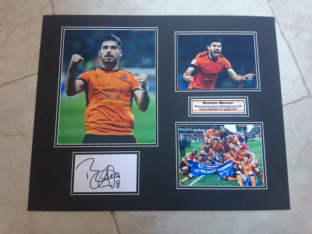 9c4a83a06ab RUBEN NEVES -WOLVERHAMPTON WANDERERS FC - CHAMPIONS - HUGE SIGNED PHOTO  MONTAGE