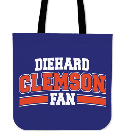 Clemson Diehard Fan Totebag - LOWEST PRICE