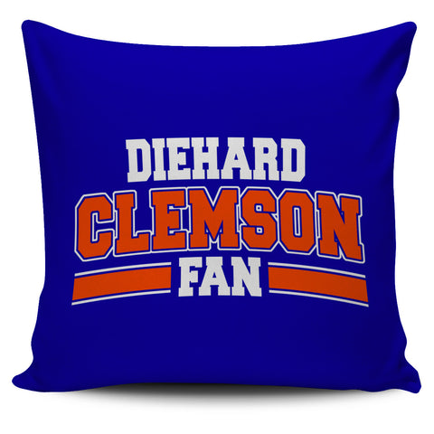 Clemson Diehard Fan Pillowcase