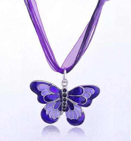 LUPUS BUTTERFLY NECKLACE