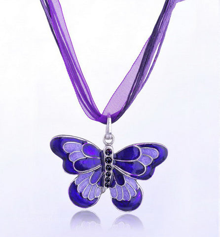 LUPUS WARRIOR BUTTERFLY NECKLACE