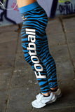 Carolina Football Striped Leggings