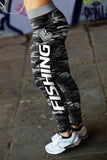 Love Fishing Black Camo Leggings