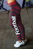 Houston Football Striped Leggings