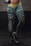 Los Angeles Football Striped Leggings