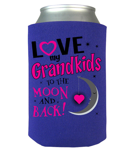 To The Moon And Back Can Koozie