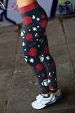 Houston Ugly Christmas Random Football Leggings