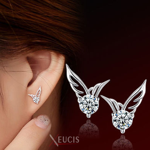 Warrior Angel Wings Crystal Earrings