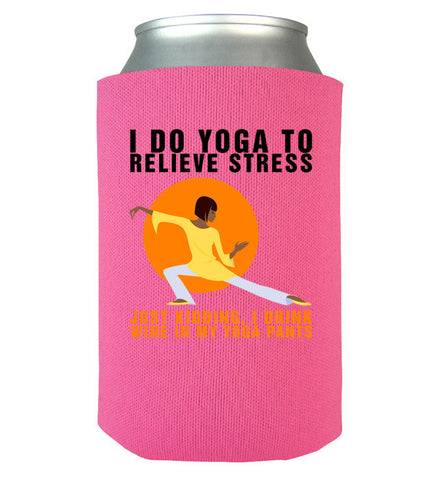 Yoga Wine Can Koozie
