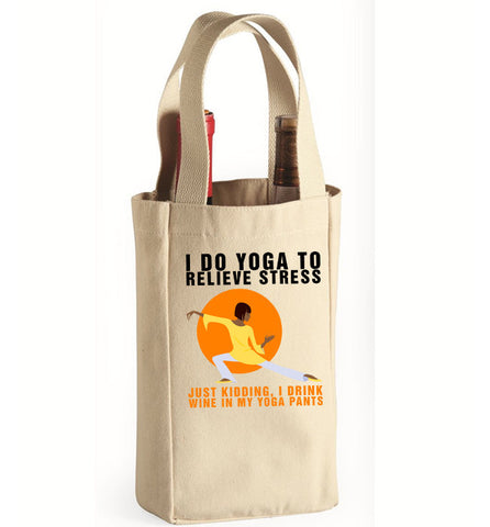 Yoga Wine Wine Bag