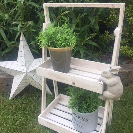Extra Large white barn lined metal star