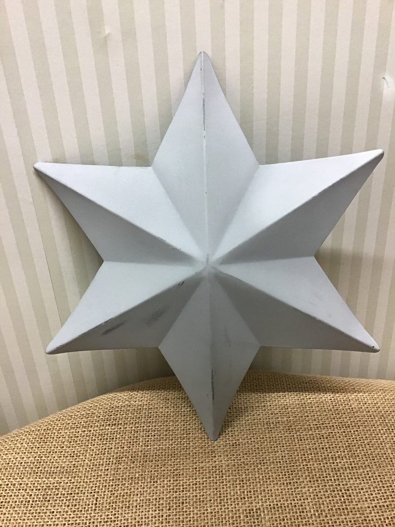 Pale grey 6 pointed star