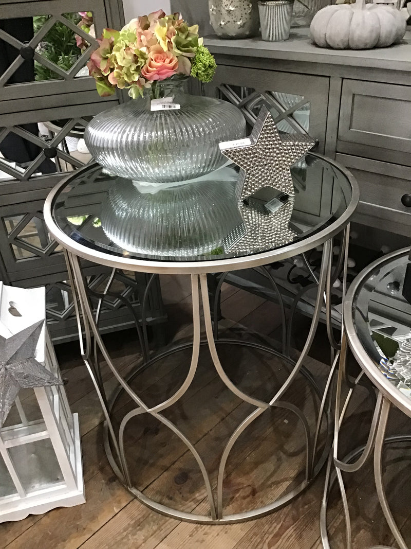 Large Silver Lattice side Table