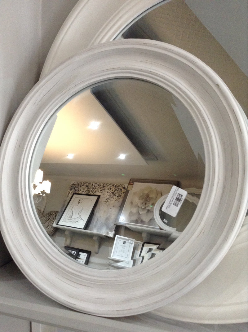 White round simple mirror 74cm